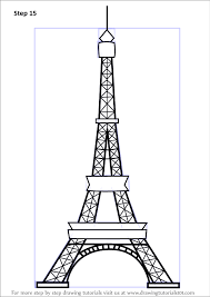 learn how to draw an eiffel tower wonders of the world step by