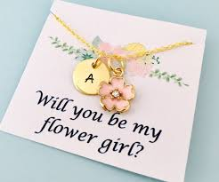 will you be my flower girl gift flower girl necklace flower girl gift will you be my flower