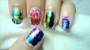 easy holographic nail art pretty woman youtube