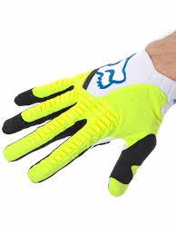 kids motocross gloves fox white yellow 2017 pawtector mx gloves fox freestylextreme