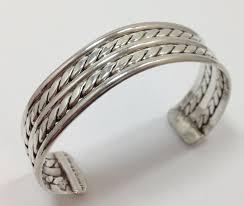 cuff bracelet sterling silver images Vintage taxco twist braid rope sterling silver wide cuff bracelet jpg