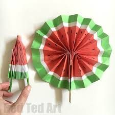 how to make a fan diy paper fan melon fans ted s