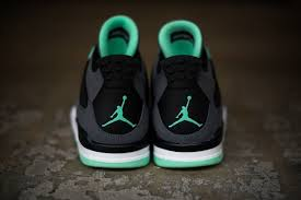 green glow 4 air 4 retro green glow air 308497 033 drk