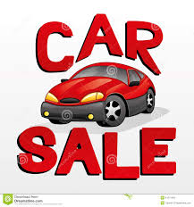 car for sale car sale stock vector image 41271493