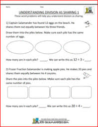 free math work sheets division