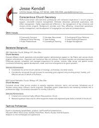 Resume Format Event Management Jobs by Secretary Resume Format It Resume Cover Letter Sample