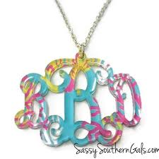 acrylic monogram necklace xl acrylic monogram necklace monogrammed necklace sassy