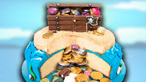 how to make a buried treasure cake with a kit kat chest from