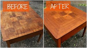How To Refinish Teak Dining Table Diy Mid Century Furniture Refinish Youtube