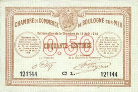 chambre de commerce boulogne sur mer banknotes emergency notes boulogne sur mer 62 chambre de
