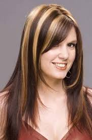 hair highlighted in front dark hair with blonde highlights in front archives women medium