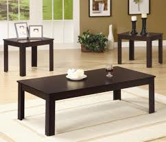 Three Piece Patio Furniture Set - coaster occasional table sets contemporary 3 piece round