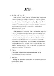 rumus membuat latar belakang makalah prosedur dan fungsi