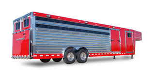 cattle trailer lighted sign show cattle trailers elite trailers