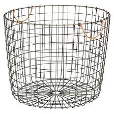 extra large round wire decorative storage bin antique pewter