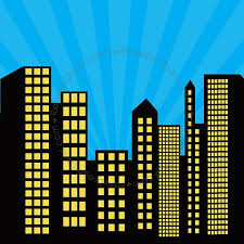 cityscape backdrop superman clipart backdrop pencil and in color superman clipart
