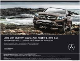 mercedes ads mercedes car destination anywhere because your heart is the road