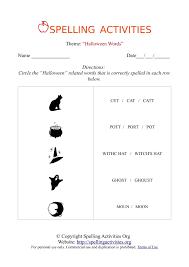 halloween words spelling activities 3