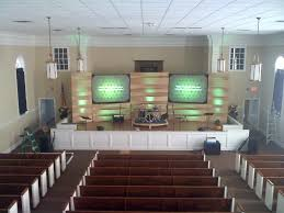 the wooden weave church stage design ideas
