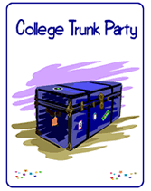 college invitations printable college trunk party invitations