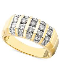 mens engagement ring s ring in 14k gold 1 ct t w rings jewelry