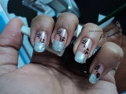 nail art design u2013 black and silver nail art with pictures