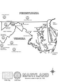 maryland map free maryland state map coloring page free printable coloring pages