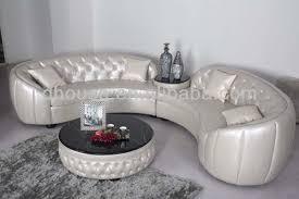 Corner Leather Sofa European New Classic Round Corner Leather Sofa Set Al190 View