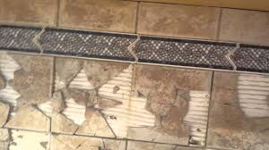 tile backsplash removal without drywall damage youtube