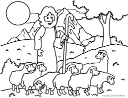 good shepherd lost sheep coloring activity pages