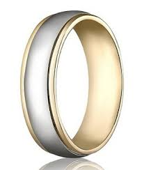 two tone wedding bands 14k yellow white gold wedding band 6 mm designer two toned