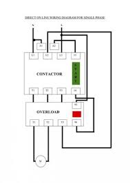wiring diagram for contactor and overload