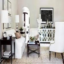 mirrored sideboard transitional dining room
