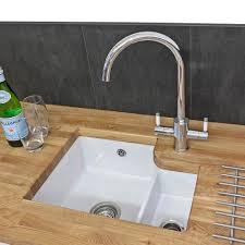 ceramic undermount kitchen sinks reginox tuscany 1 5 bowl white ceramic undermount kitchen sink