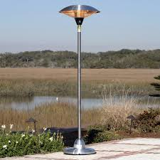 Propane Patio Heaters Reviews by Fire Sense Stainless Steel Floor Standing Round Halogen Patio