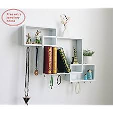 Bookshelf Wall Mounted Amazon Com Shelving Solution Intersecting Decorative White Color