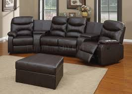 Home Theater Sectional Sofas 50110 Spokane Home Theater Sectional Sofa In Brown By Acme