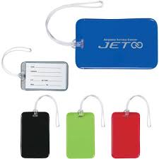 promotional journey luggage tags with custom logo for 0 95 ea