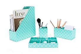 amazon com turquoise desk accessories organizer set 4 pcs set