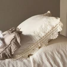 bella notte linen with crochet lace sham lcr341 free shipping