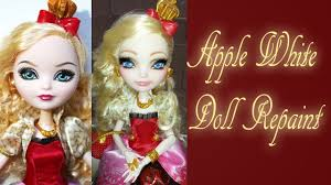 Ever After High Apple White Doll Ever After High Doll Apple White Repaint Youtube