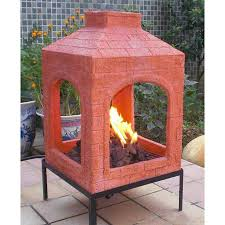 lit your outdoor space nuance with chiminea fire pit for stylish