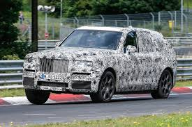 roll royce bmw 2018 rolls royce cullinan suv new nurburgring spy shots auto