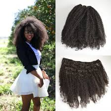 best clip in extensions afro curly clip in human hair extensions mongolian