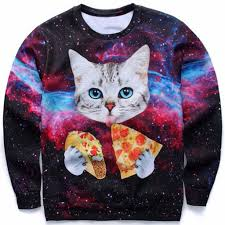 cat sweater galaxy cat pizza taco sweater zapps clothing