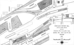 Chicago River Map by File Chicago River Bridges At Kinzie St 1897 Jpg Wikimedia Commons