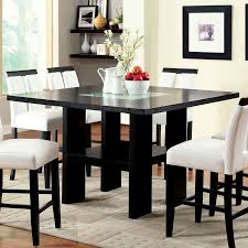 Luminar II Counter Height Dining Set Black Casual Dining Sets - Counter height dining table in black