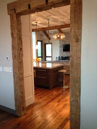 Cutting Wood Flooring Around Door Frame Frame Your Doorway In Hand Hewn Beams And Create An Entrance No