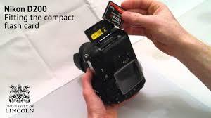 Memory Card Nikon D70 changing the compact flash card on a nikon d200
