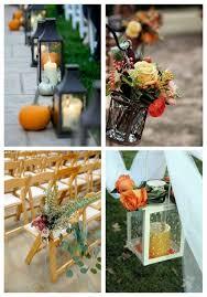 fall wedding decoration ideas 57 fall wedding aisle decor ideas happywedd